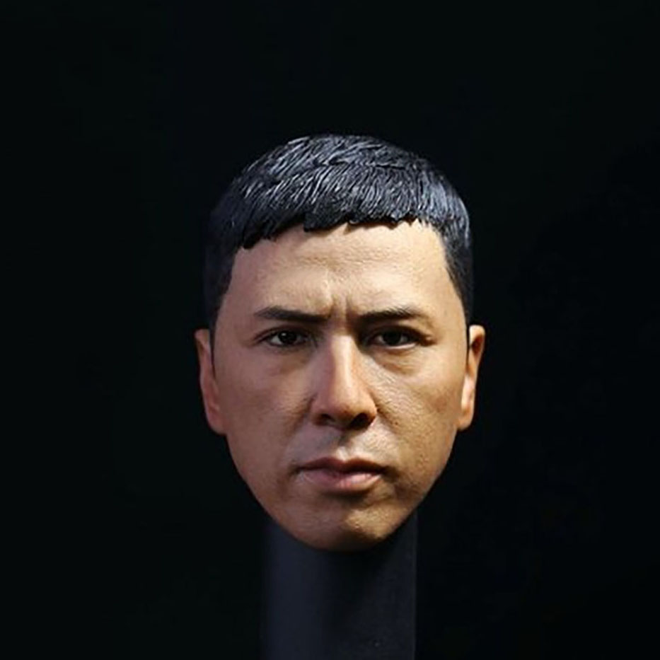 1/6 Scale Ye Wen Hunchun Master Donnie Yen Head Carving Sculpt Version Model Short Hair Headplay For 12 Man Action Figure image