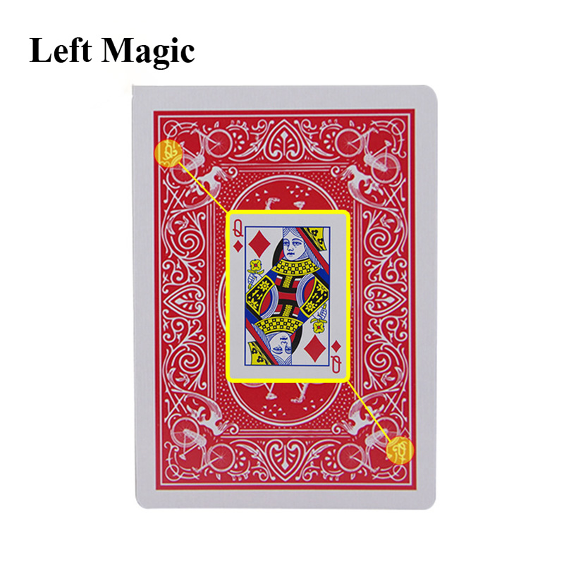 .Magic Cards Marked Stripper Deck Playing Cards Poker Magic Tricks Close-up Street Magic Trick Kid Child Puzzle Toy G8277