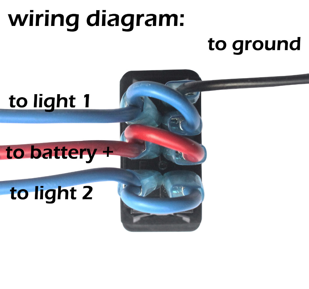 small resolution of blue led on off on windshield wiper rocker switch terminal cables wiring set for car boat truck push switch diy replacement in car switches relays from