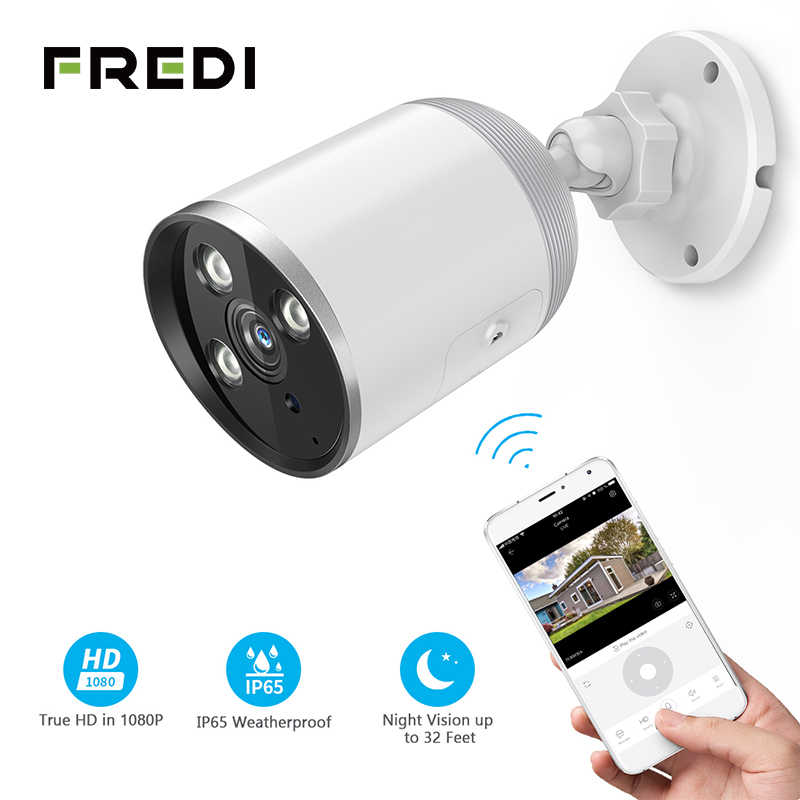 FREDI YCC365 IP Camera 1080P Waterproof Outdoor Bullet Camera Security Surveillance Camera Wireless Network WiFi  CCTV Camera
