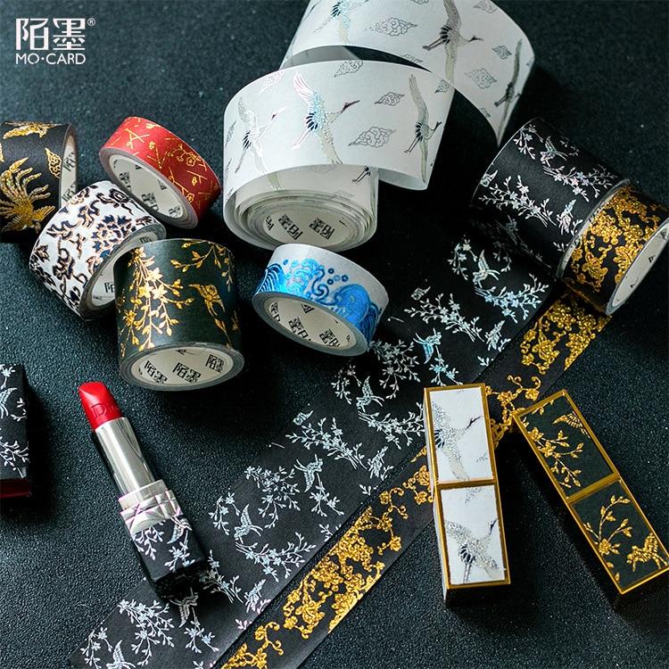 Chinese Style Retro Forbidden City Decorative Gilding Washi Tape Adhesive Tape DIY Scrapbooking Sticker Label Craft Masking Tape