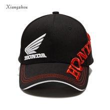 Moto GP Lettere Honda Motocross Equitazione Cappelli 3D Ricamato Ala F1  Berretto Da Corsa di Moto 350af9bb3cdb