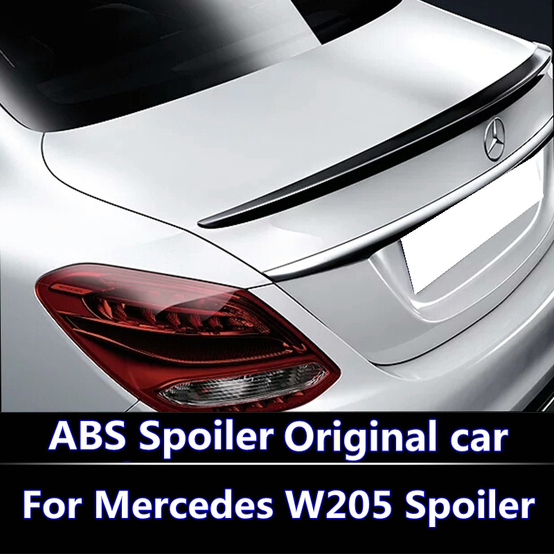 For <font><b>Mercedes</b></font> <font><b>W205</b></font> <font><b>Spoiler</b></font> 4-Door AMG style C180 C200 C250 C260 ABS Plastic Tail Wing Unpaint and lacquer Color For W-205 <font><b>spoiler</b></font> image