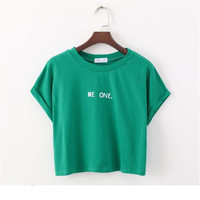 New Summer Style Harajuku T Shirt Women Letters Printed White Cotton Women T Shirt Tops Tees