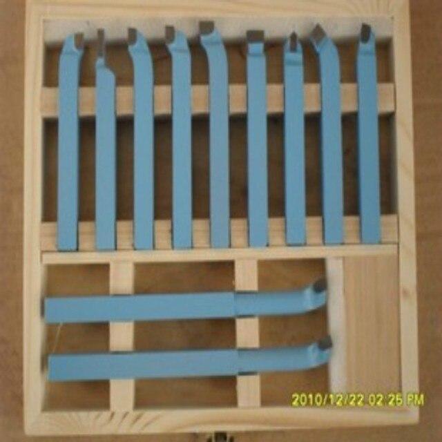 Прецизионные резцы для токарного станка из твердого сплава Наборы инструментов режущие инструменты с деревянным корпусом