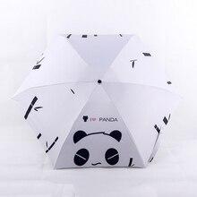 חדש חמש מתקפל נייד חמוד פנדה מיני כיס מטריית גשם מטריית שמש נשים גברים ילדי Parapluie סאני/גשום שמשייה