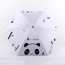 New Five Folding Portable Cute Panda Mini Pocket Umbrella Rain Women   Sun Umbrella Men Children Parapluie Sunny/Rainy Parasol