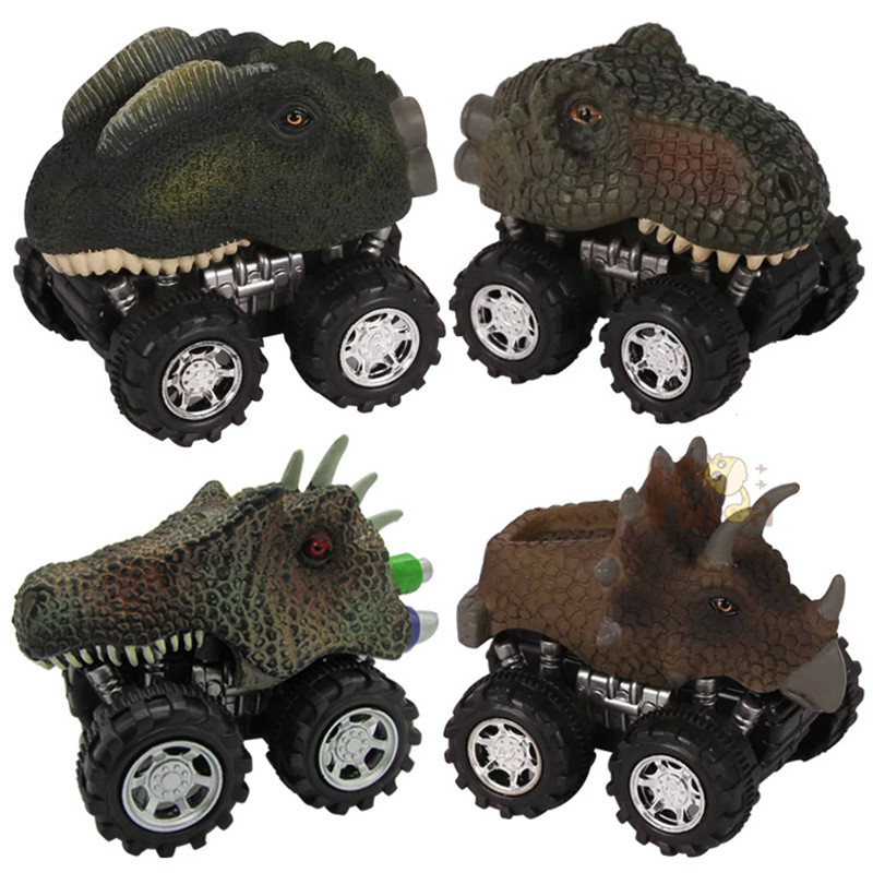 New Creative Child Gift Dinosaur Toys Pull Back Car Cartoon Dinosaur Model Mini Toys For Boy Novelty Toy Gift