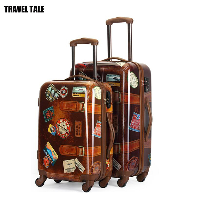 TRAVEL TALE PC ABS cabin vintage trolley luggage 20 24