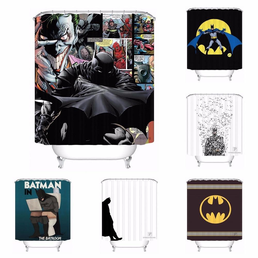 Hot Custom Shadow Of Batman Shower Curtain 48x72 60x72 66x72 Bath ...