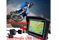 2017 gps motorcycle 4.3 inch waterproof motorcycle gps navigation holder map installed bluetooth 8gb touch screen +USB charger