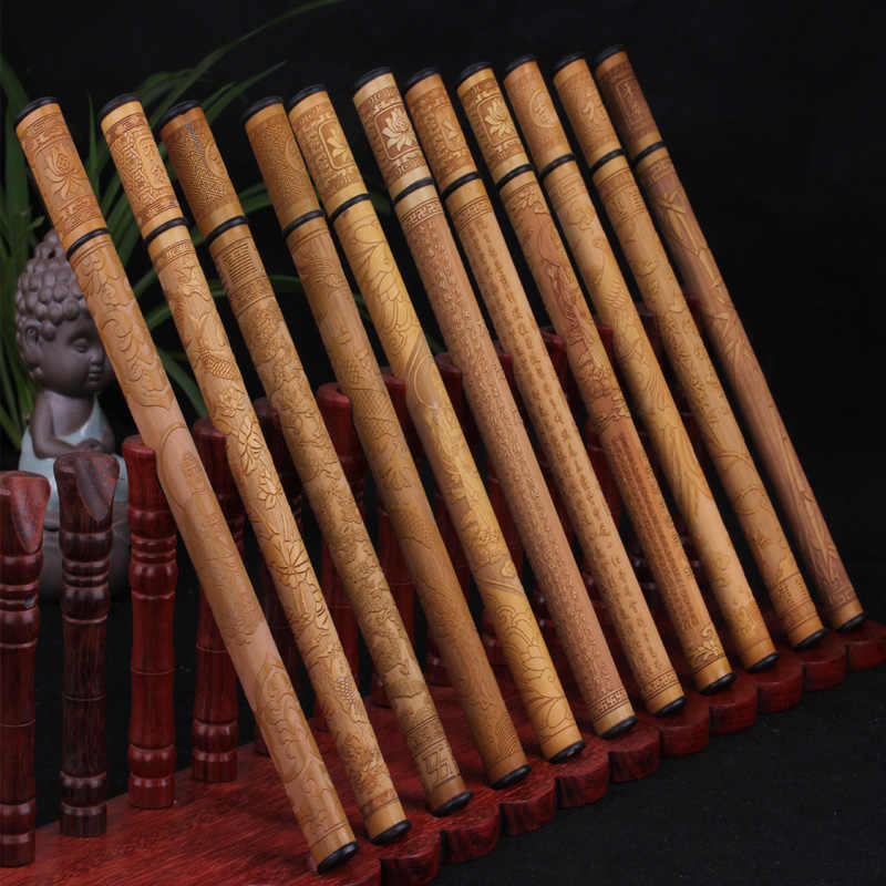 Old bamboo 7-inch bamboo relief carved incense barrel Dragon Gil Aloes and sandalwood incense fragrance of incense tube tube