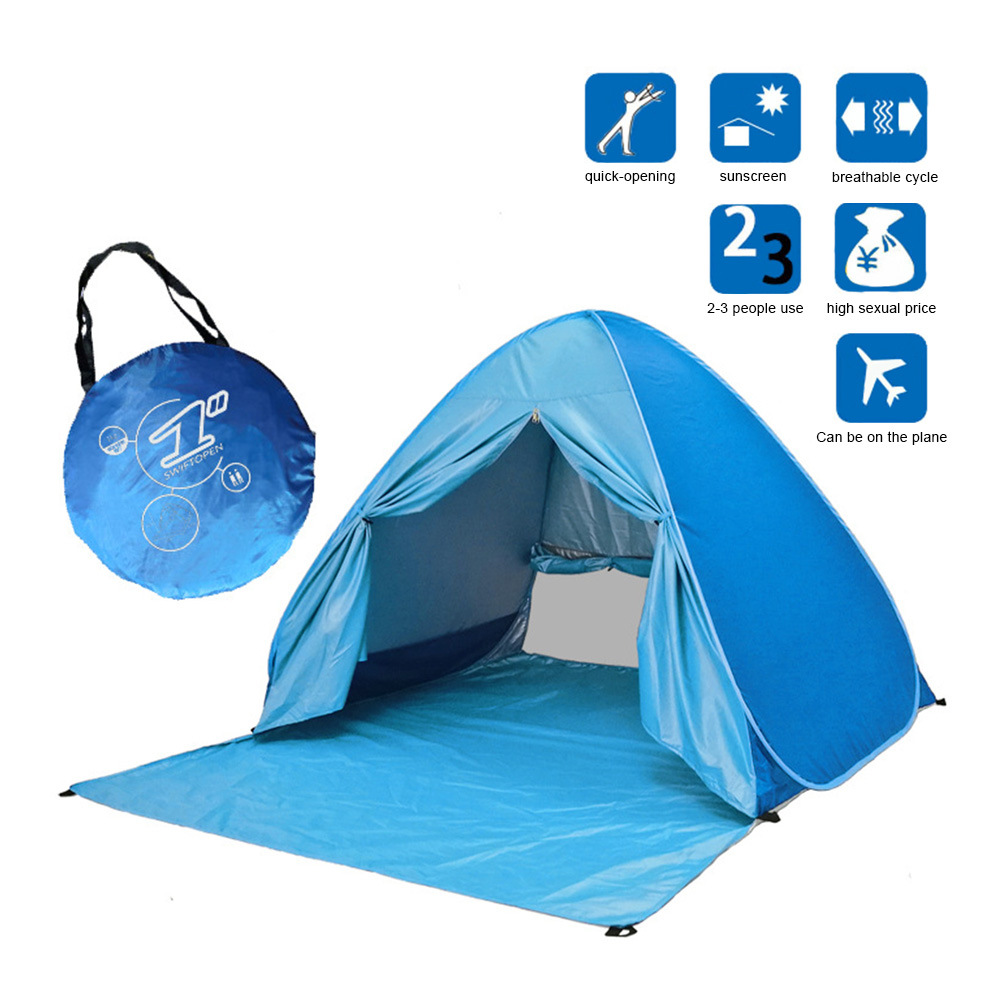 Camping en plein air Waterpoof plage éviter de construire tente Pop Up ouvert 1-2 personne Sunshelter enfants poussent tente pour la survie en plein air