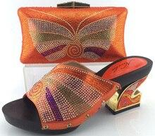 2017 hohe Qualität Frauen Schuhe Mit Passender Tasche Für Hochzeit Mode Sandale African Italienische Schuhe Und Tasche Set ME3325