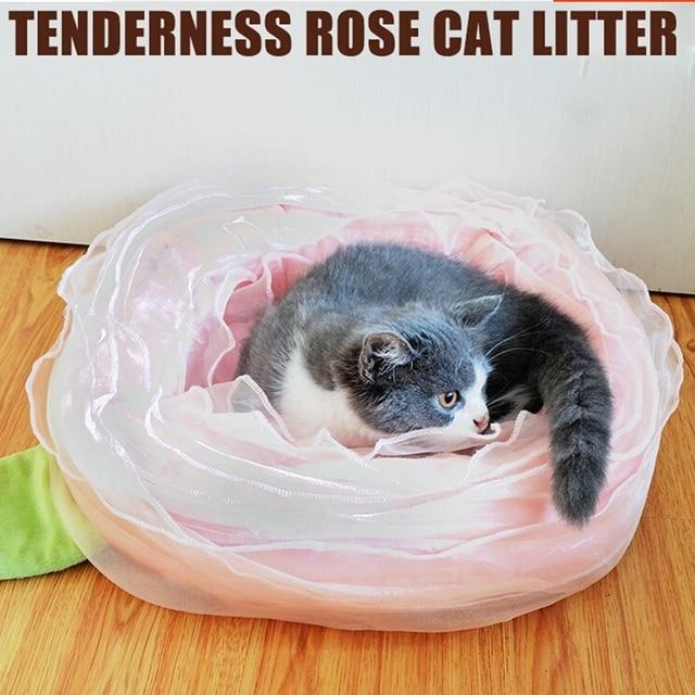 Romantic Rose cat bed