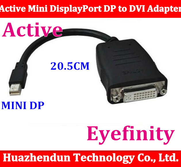 Free shipping Active Mini DisplayPort DP to DVI Single Link Adapter Support ATI Eyefinity 1080 cable use for HD5870 video card new for msi ms 16f1 16f2 16f3 1656 1727 notebook pc graphics video card ati mobility radeon hd 5870 hd5870 1gb gddr5 drive case