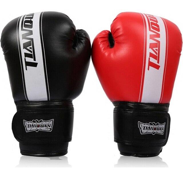 91c2286ea Preto Vermelho Azul Feminino Masculino Wushu Sanda Luta Luvas boxeo luvas  muay thai Luvas De Boxe
