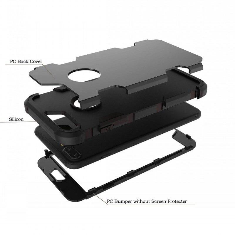 Shockproof Case Untuk Iphone 7 Plus 8 Plus Cover 360 Perlindungan - Aksesori dan suku cadang ponsel - Foto 3