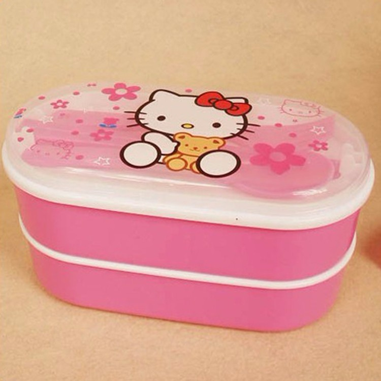 Chopsticks /& Spoon Set Hello Kitty Japanese Bento Lunch Box Food Container