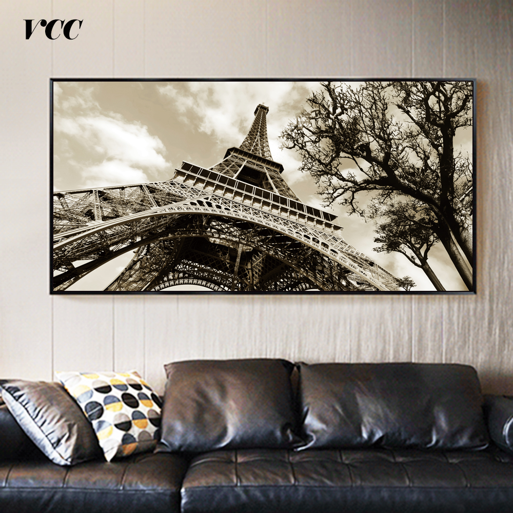 Us 3 99 30 Off Wall Art Landscape Painting Paris Eiffel Tower Picture Posters And Prints On Canvas Poster Wall Pictures For Living Room In Painting