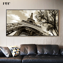 Home Decor Wall Art Canvas Painting Pictures For Badroom Quadro Cuadros Decoration Paris City Eiffel Tower No frame