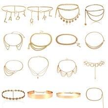 BLA роскошные женские ремни на цепочке, пояса, подходящие к любой талии, золотые серебряные Многослойные Длинная кисточка, цепочка, ремни для вечерние, ювелирные изделия, платье 3