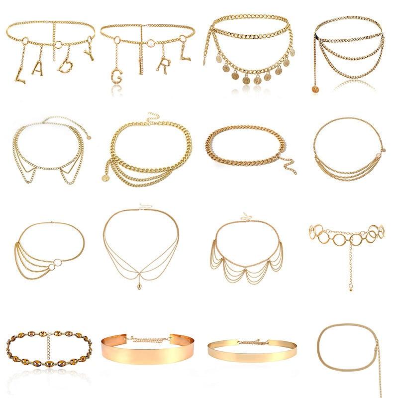 BLA Luxury Women Chain Belts Waistbands All-match Waist Gold Silver Multilayer Long Tassel Chain Belts For Party Jewelry Dress 3