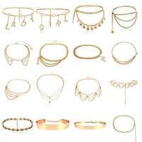 BLA de lujo para mujer cinturones de cadena cinturas que combinan con todo cintura oro plata multicapa borla con cadena larga cinturones para fiesta joyería vestido 3