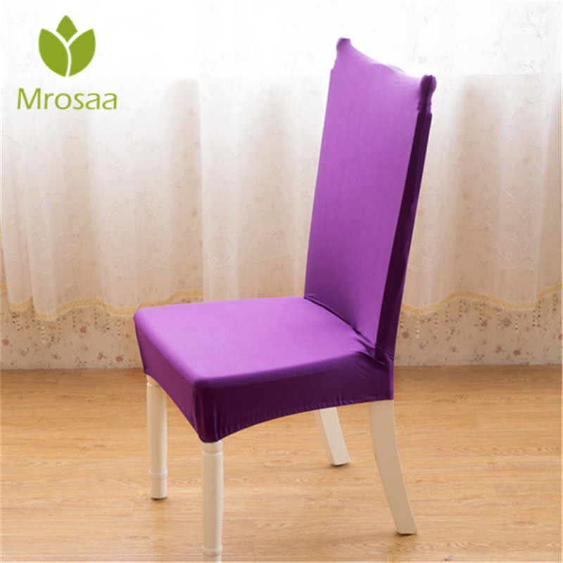 Purple Solid Color 1pcs Stretch Home Decor Dining Chair