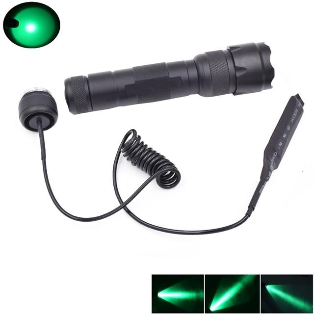 WF-502B Green Light 300 Lumens LED Flashlight 1Mode Tactical Linternas LED Flash Light + Remote Pressure Switch