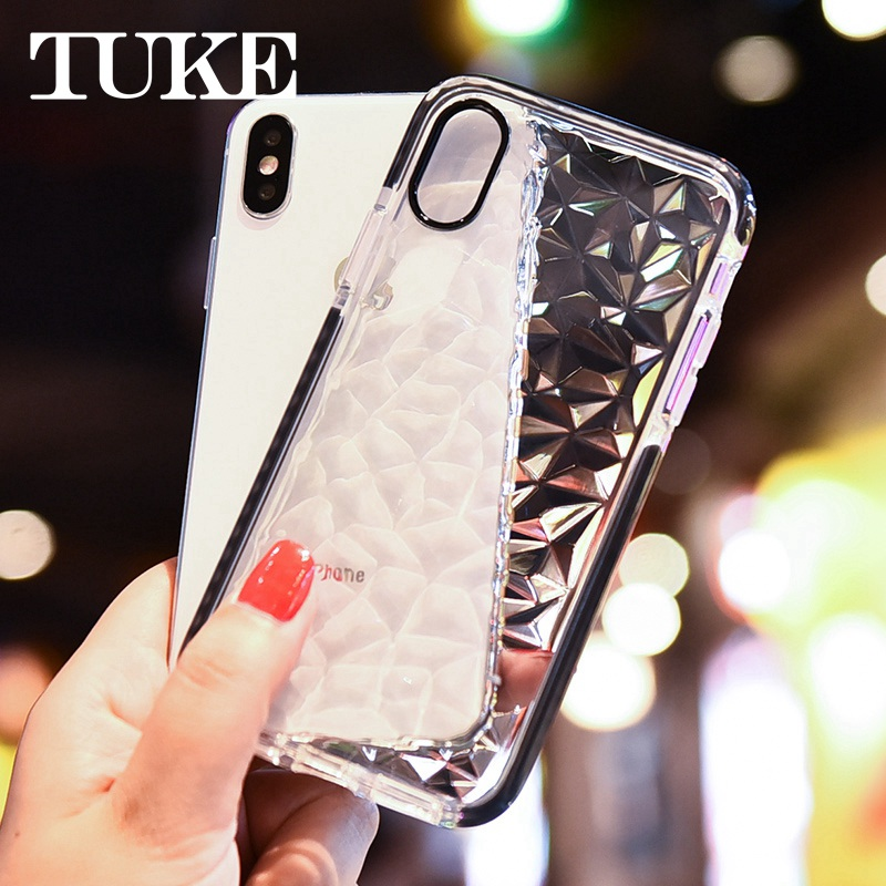 Diamond Case Glitter <font><b>Plating</b></font> Soft Cover for <font><b>Oppo</b></font> A7X F9 R19 F11 ProRealme K3 <font><b>Reno</b></font> Z Zoom Case Soft <font><b>TPU</b></font> Silicone Cases image