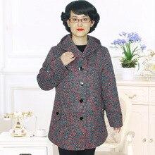 plus-size big size 8xl 9xl 6xl 7xl Women's clothing qiu dong outfit Fashion mom hooded casual coat   PYLN1637