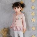 2-3 T Baby Girl Clothes 2017 Primavera Nova Saia de Renda Bebê Menina Saia de Renda Criança Jaqueta 8802