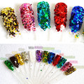 12 colors Nail Art Glitter Powder for Shiny Uv Gel Polish Decoration Manicure Tips Glitter Paillette Styling Tools NC162x12