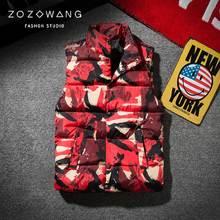 zozo Spring Autumn Men women Camouflage Vest Super Warm Winter Jackets Slim Down cotton Waistcoat Couple vest plus size 3XL