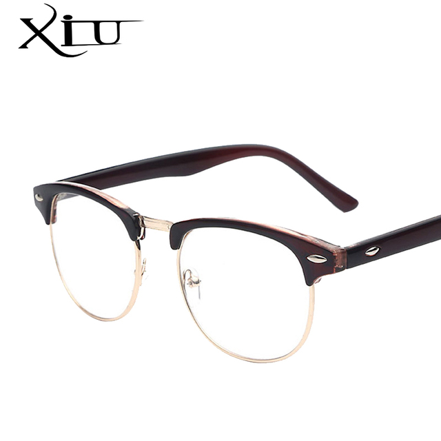 XIU Women Vintage Style Eyeglasses Men Brand Designer Optical Fashion Glasses Retro Gafas Fashion Lentes Feminino