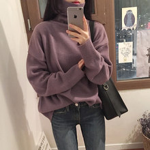4e6a03852e 6 colors 2018 autumn and winter korean chic style solid color turtleneck  sweaters womens sweaters and pullovers (C9009)