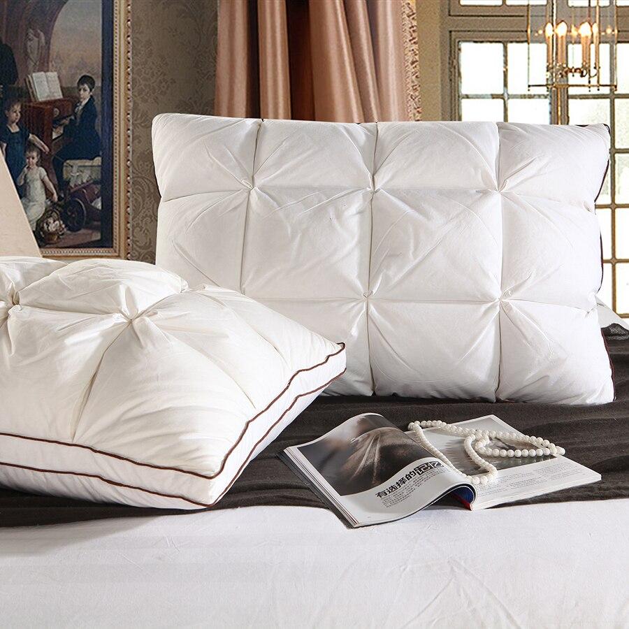 За облаком 48*74 см фирменный дизайн 3D Хлеб белая утка/гусь пуховая подушка Стандартный антибактериальные элегантный домашний текстиль 044