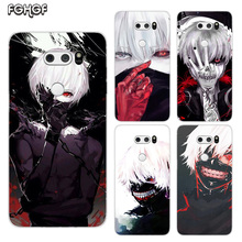 Painted Pattern Soft Rubber TPU Case For LG V40 V30 V20 V10 G7 G6 G5 G4 Heart mobile phone bag Cover Print Coque Tokyo Ghoul