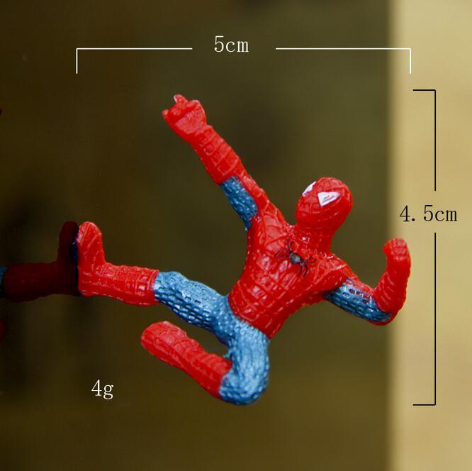 6Pcs/Set Mini Spider Man Figure Superhero Spiderman Spider Man PVC ...