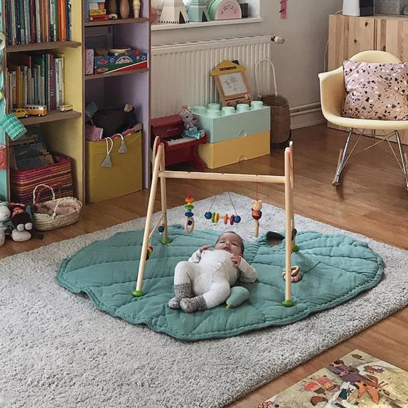 INS New Green Crawling Mat Baby Heart-shaped Leaves Children Toys Europe Childrens Play Game Pad Home Decoration 95*85cm