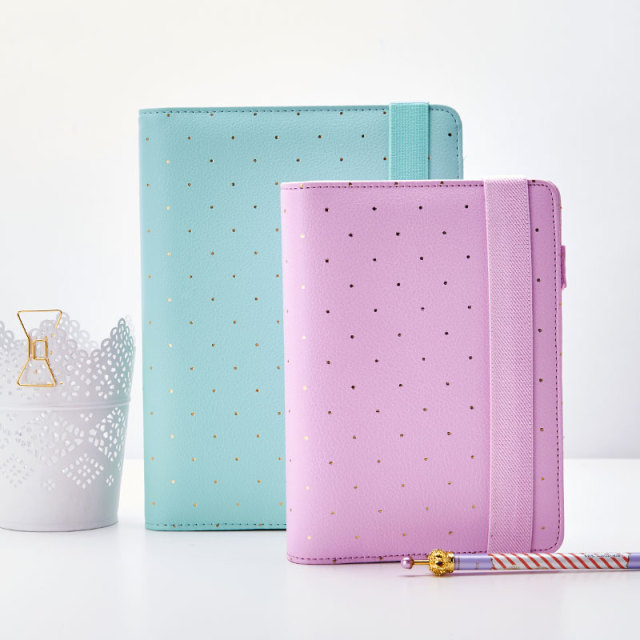 dokibook free shipping 2018 lovedoki new notebook mint lilac a5 a6 planner zipper organizer books diary