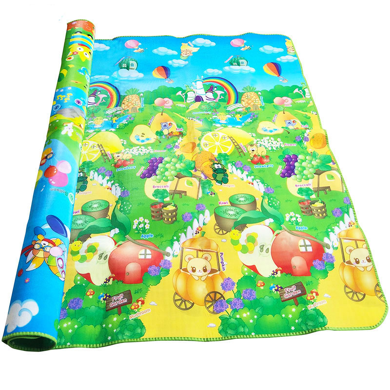 Double-sided Baby Play Mat Educational Toddler Crawling Mat 2*1.8m Activity Gym Kids Play Mat Mat for Children Rug | Happy Baby Mama