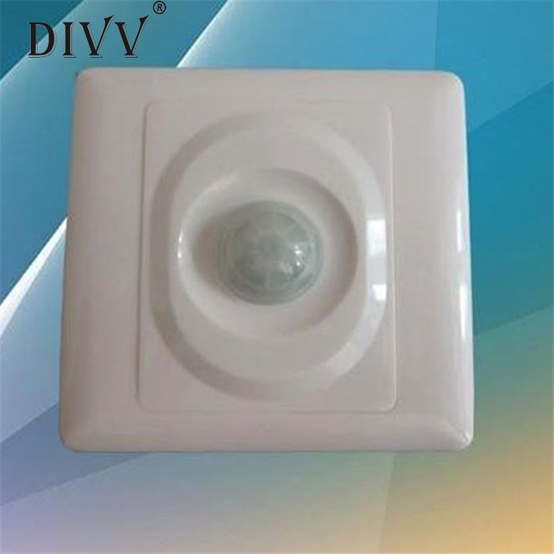 Home Wider Hot Selling New High Quality 110V-220V Automatic Infrared PIR Motion Sensor Switch for LED Light Drop Shipping Mar1 hot selling high accuracy infrared mammary diagnosis device for female self exam