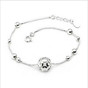Fashion 925 Silver Ball Anklet