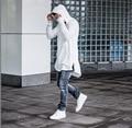 С капюшоном Стороны Молнии Kanye Толстовка Хип-Хоп Хабар Толстовка мужская Одежда 2016 Весна Тонкий Уличный Стиль