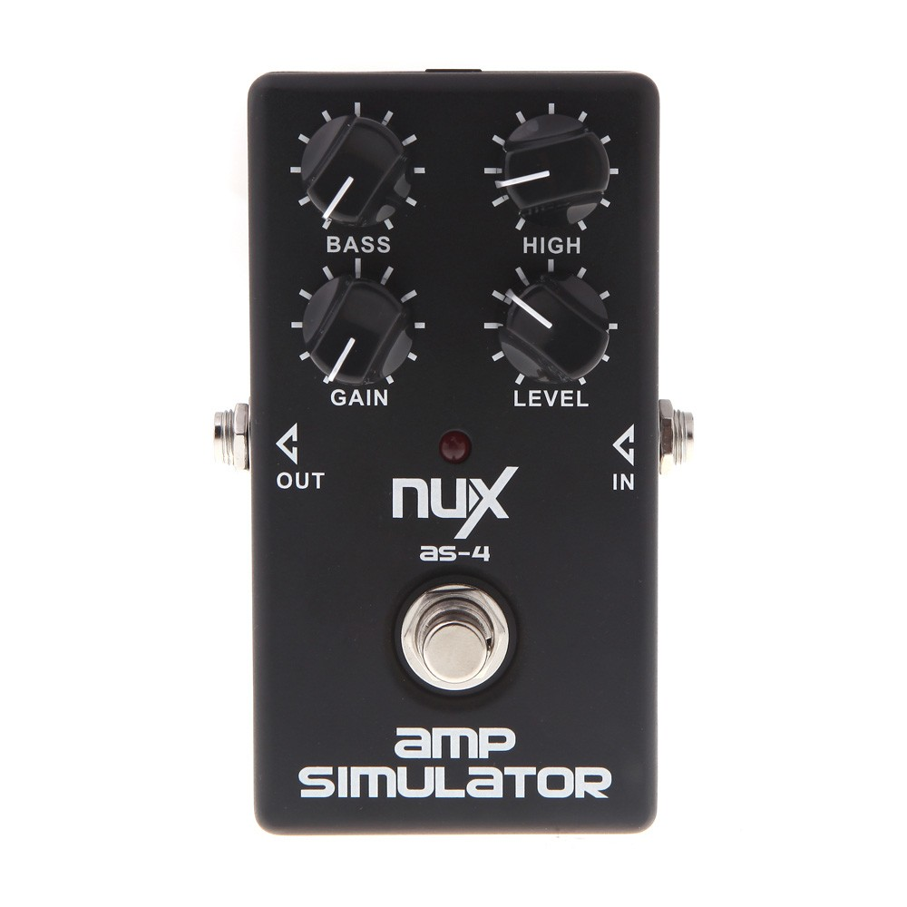 Original Product NUX AS-4 Amplifier Simulator Violao Guitar Electric Effect Pedal True Bypass Musical Instrument Parts aroma adr 3 dumbler amp simulator guitar effect pedal mini single pedals with true bypass aluminium alloy guitar accessories
