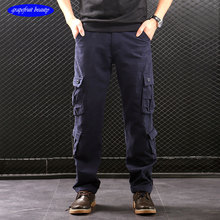 2019 summer pockets Military men cargo pants Outdoor Quick Dry Hiking trousers Army black loose waist full Trousers Street