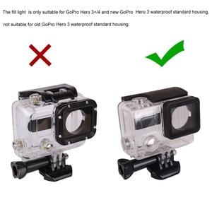 Image 4 - Andoer usb 20 led 액션 카메라 렌즈 링 슈팅 nightshot 플래시 필 라이트 램프 gopro hero 4 3 + 3 방수 하우징 케이스