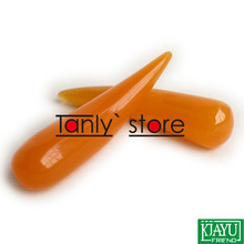 Wholesale & retail Traditional Acupuncture Massage Tools yellow cone shape Beeswax Guasha kit gift chart bag
